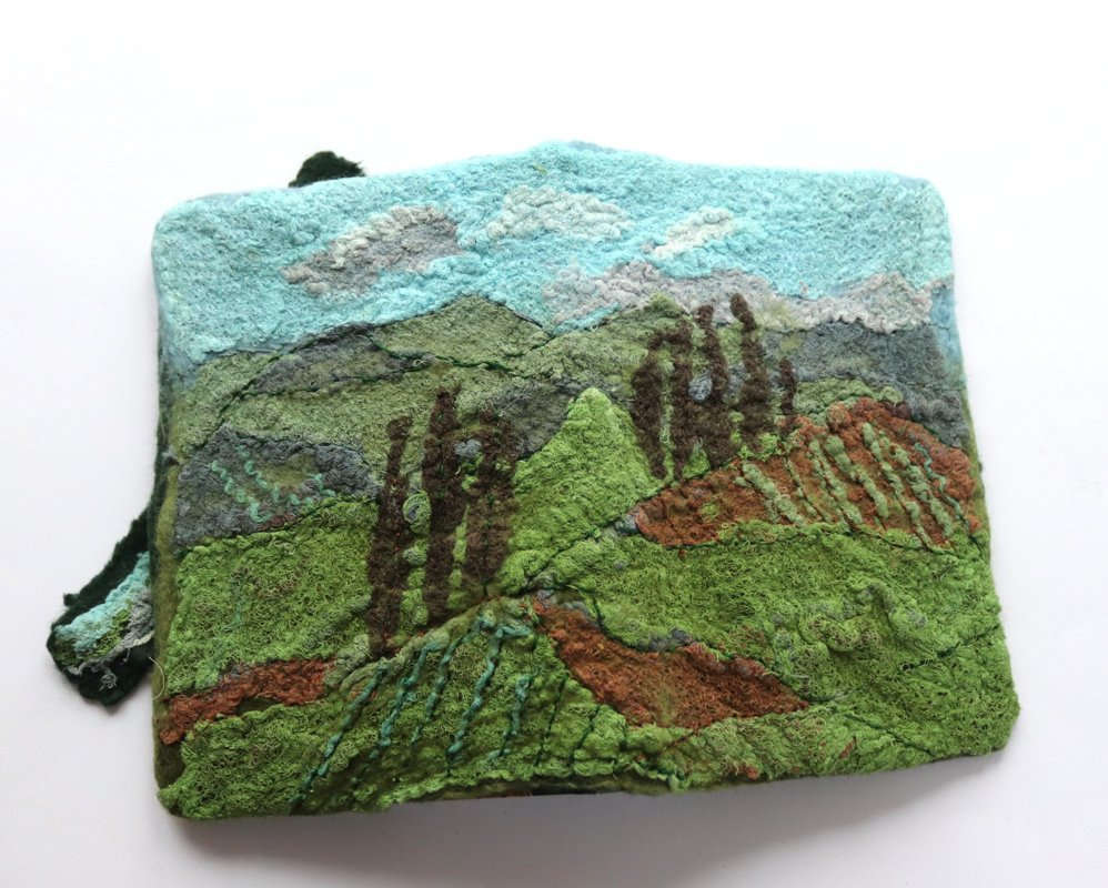 Day 3 Felting Course - Journal cover 11th August