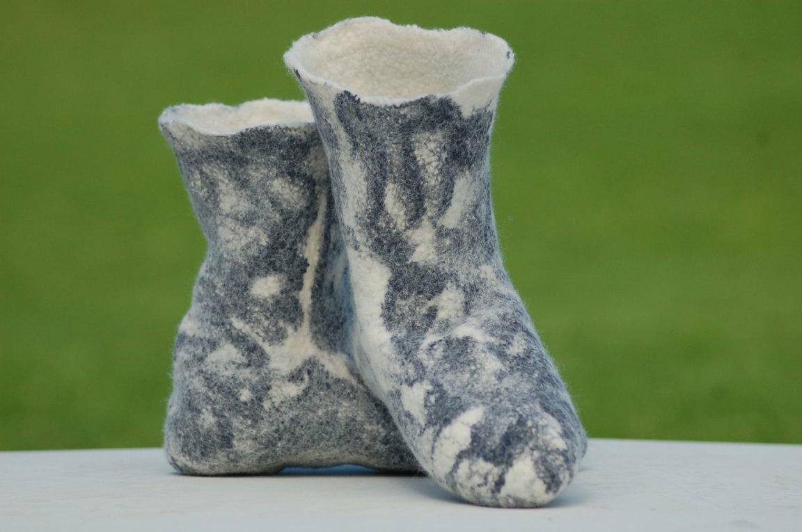 Felted Merino Socks