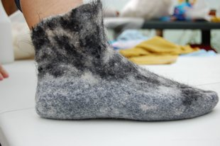 Felted Merino and Alpaca socks