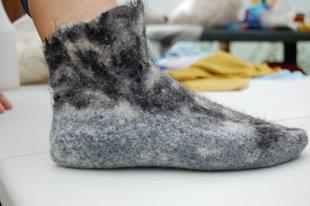 Felted Merino and Alpaca socks